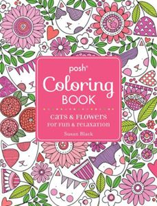 Cats & Flowers Coloring Book CE Course